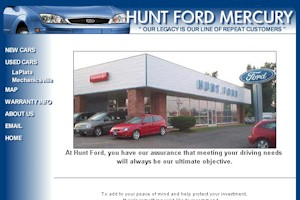 Hunt Ford Mercury Car Dealership - LaPlata, Maryland
